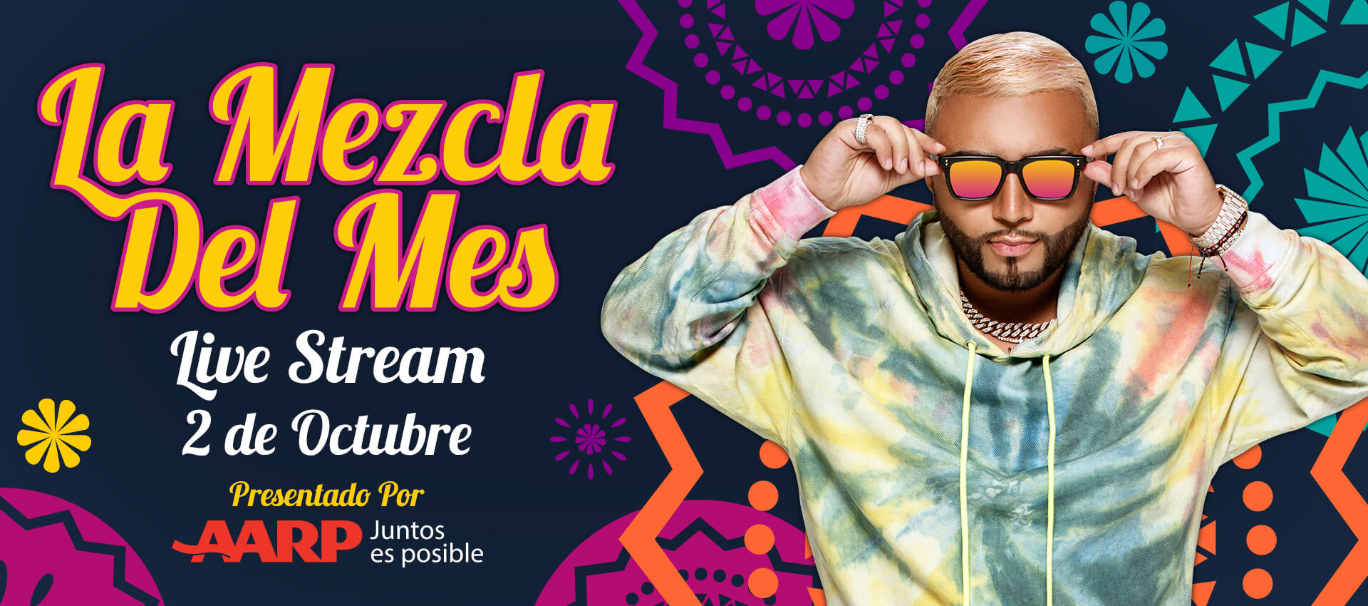 La Mezcla Del Mes LIVESTREAM Oct 2 - 9pm est