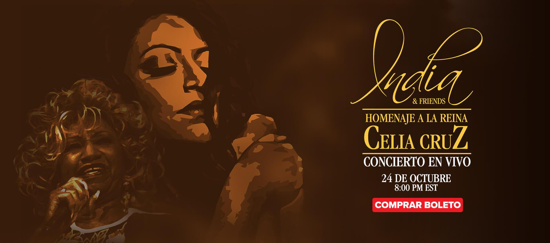 India & Friends, concierto de homenaje a Celia Cruz