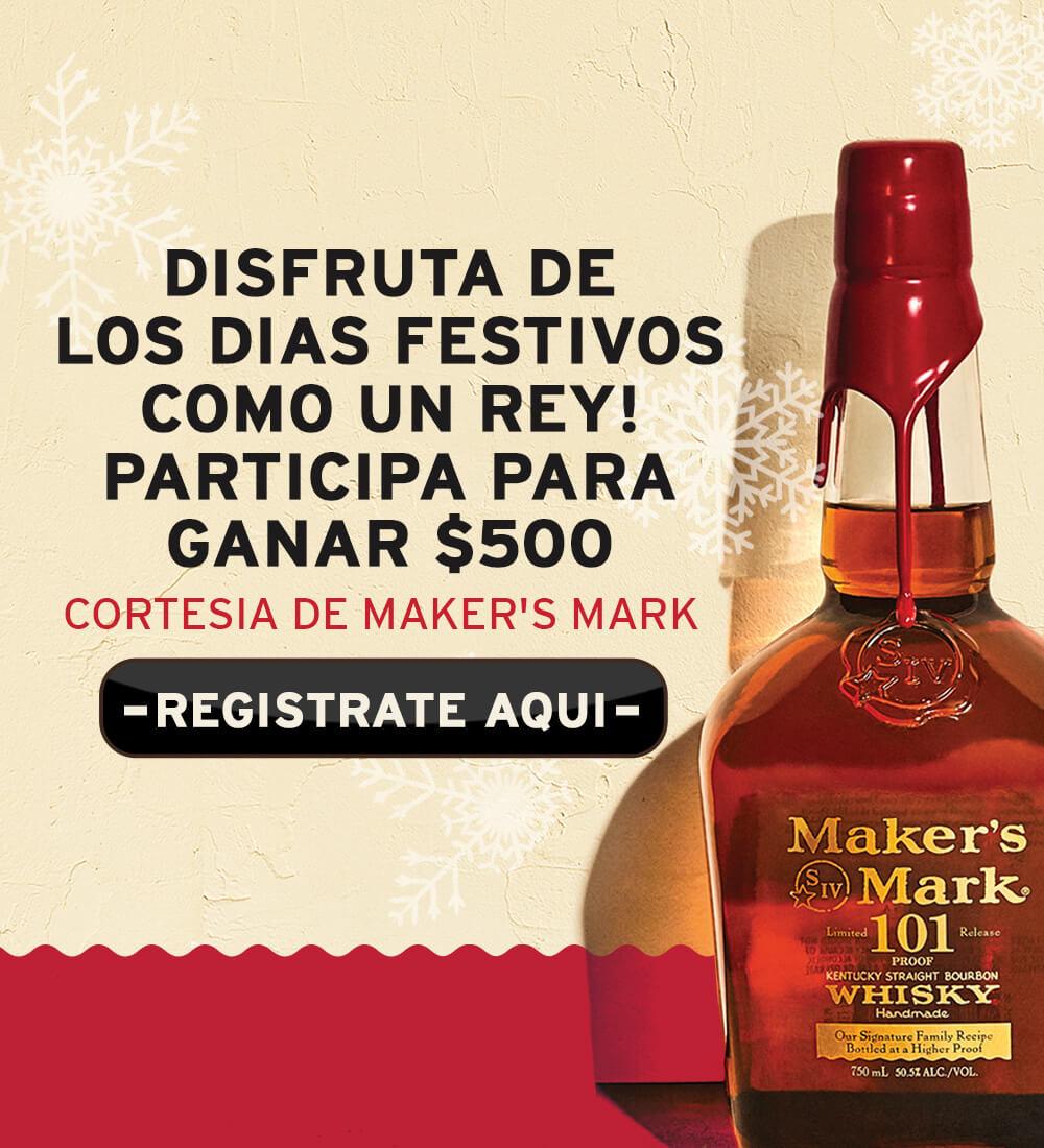 Win $500 courtesy of Maker's Mark Bourbon