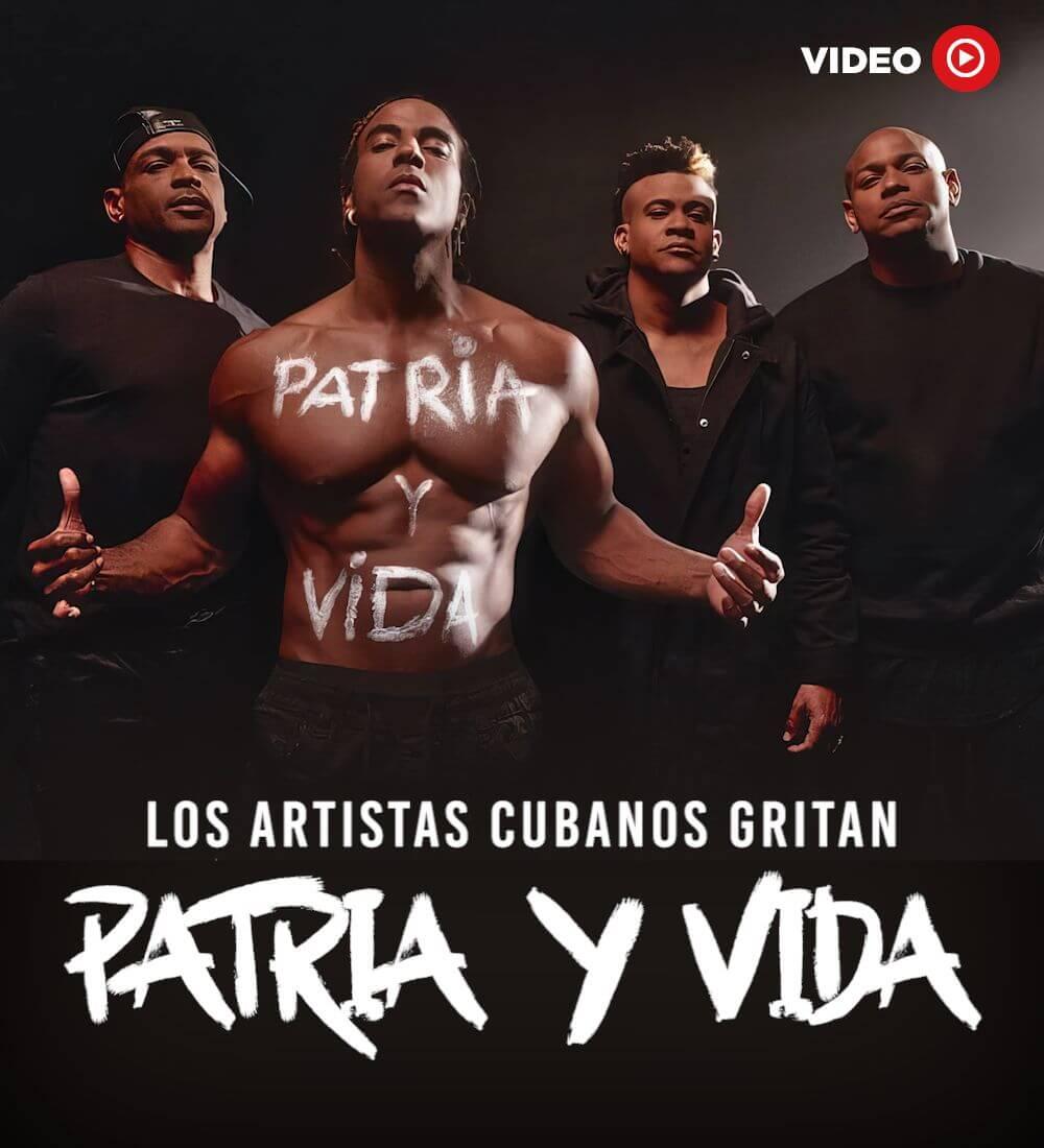 """Los Artistas Cubanos Gritan: """"Patria Y Vida"""""""