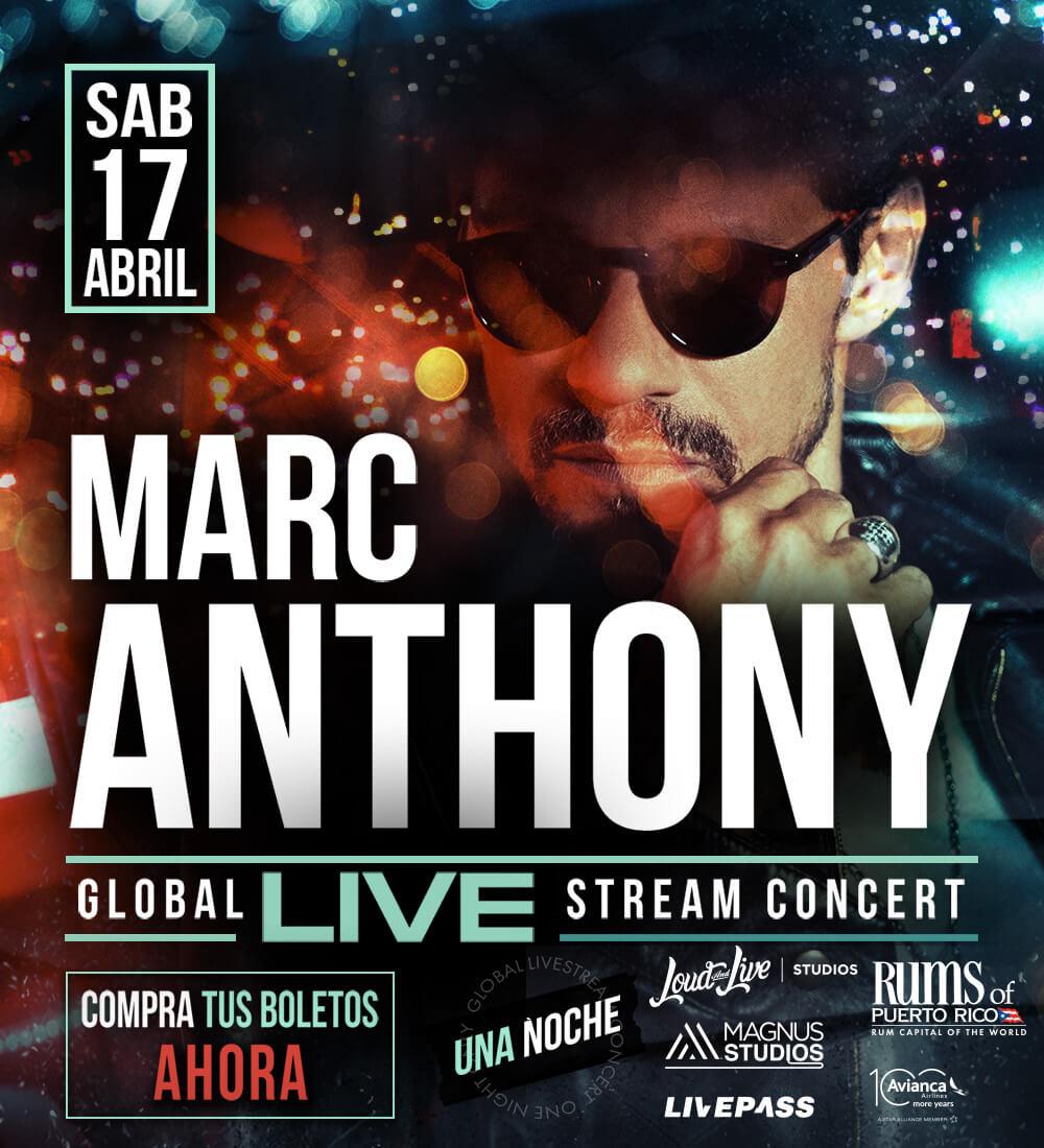 ¿Quieres ganar una entrada al Concierto Virtual de Marc Anthony?