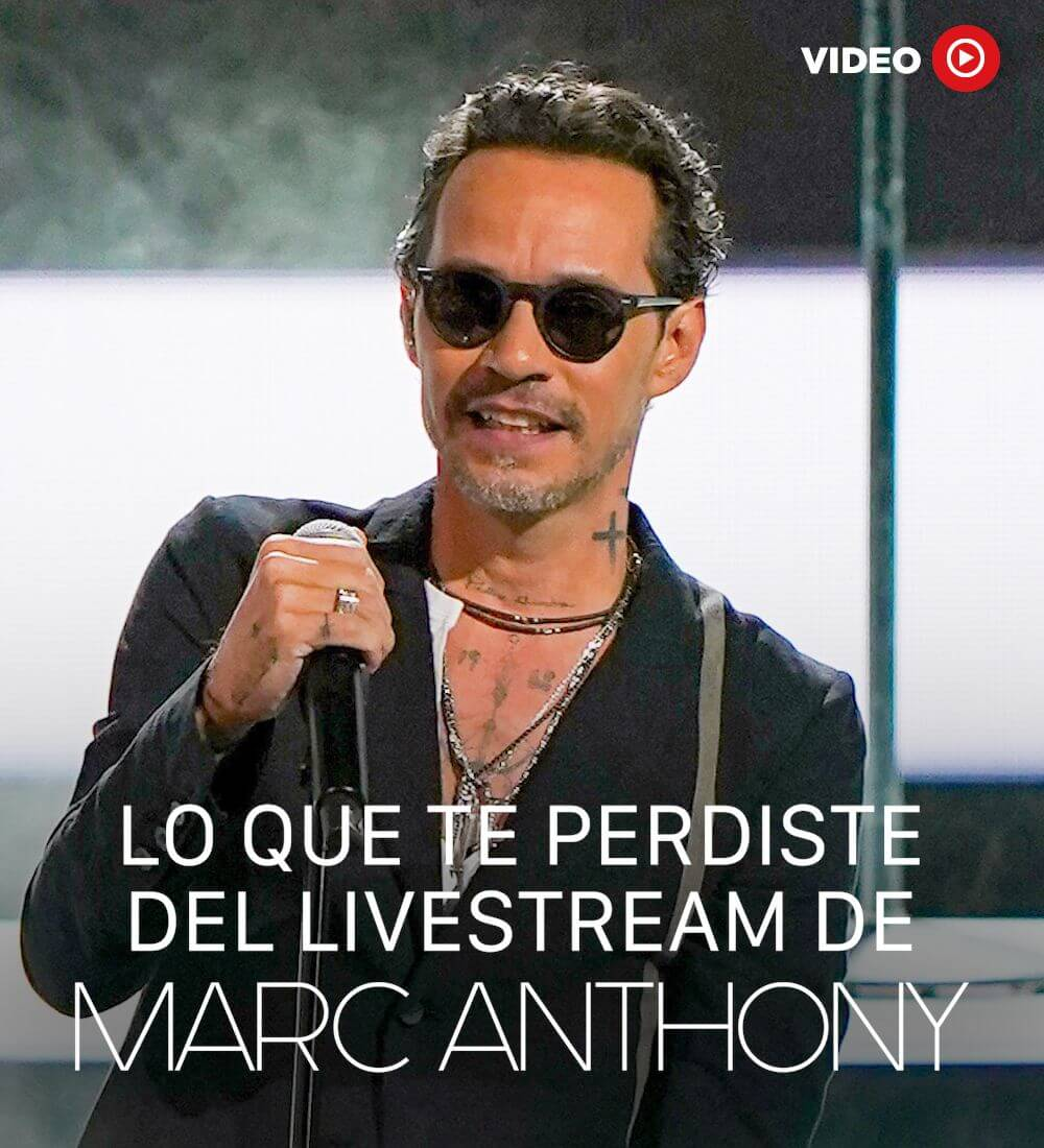 What You Missed From Marc Anthony's Livestream Concert