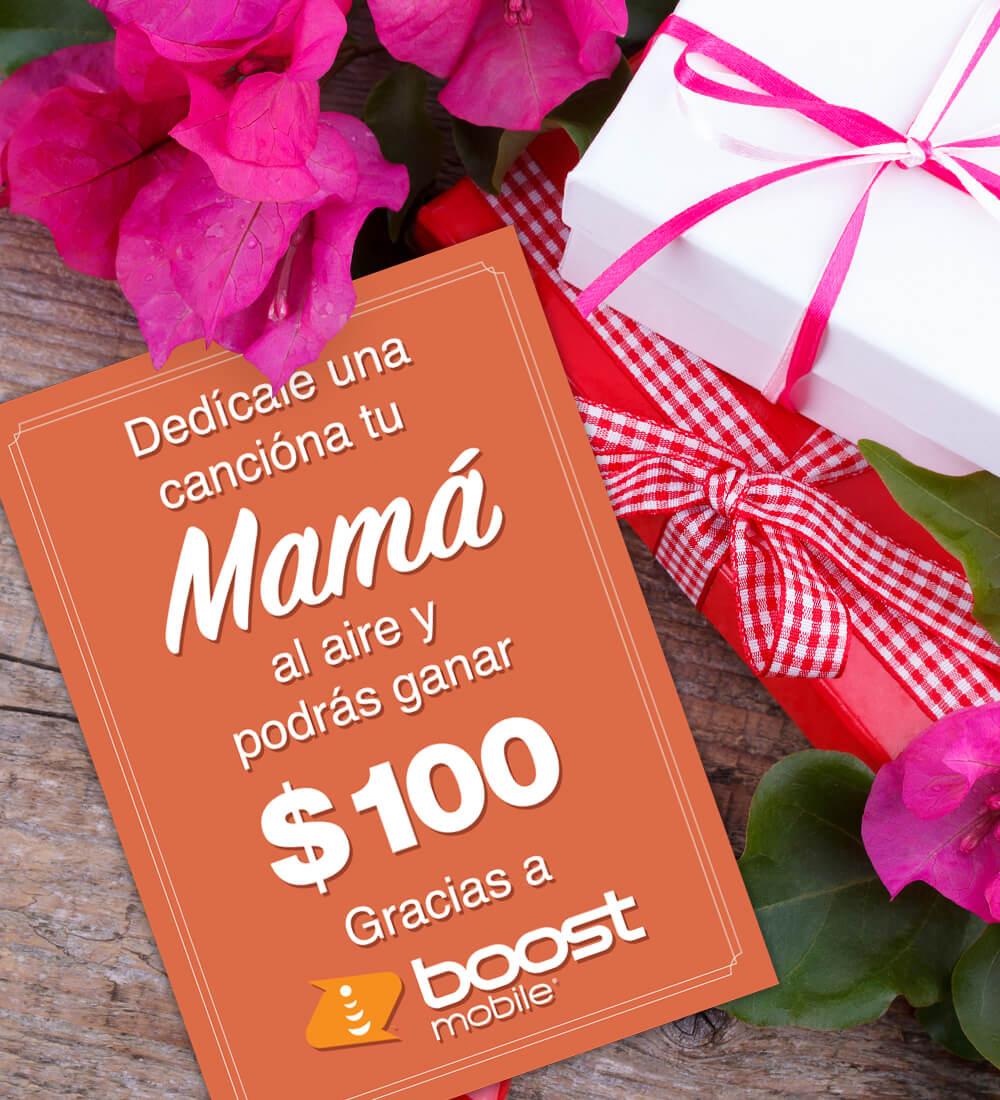 ¡Dedícale una canción a tu mamá al aire y podrás ganar $100!