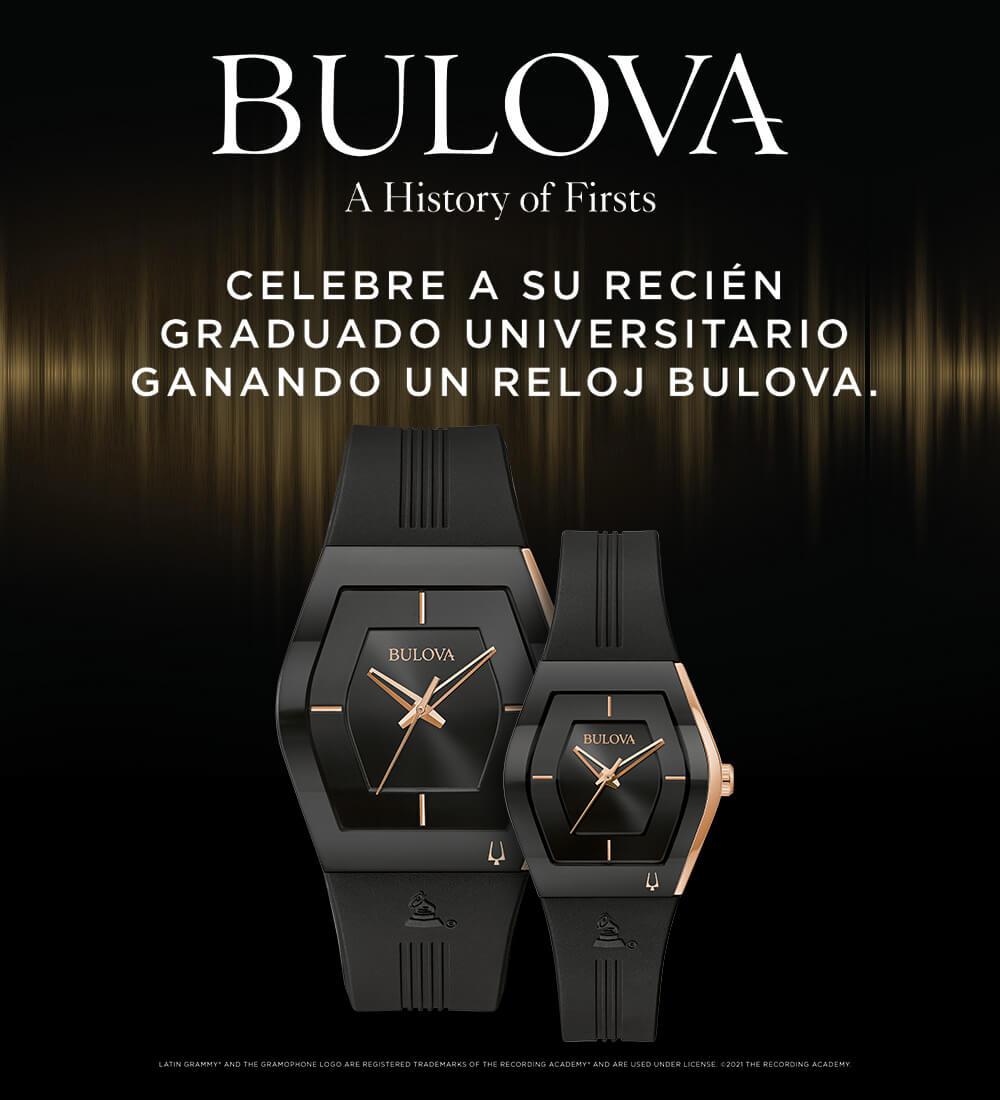 Celebre a su recién graduado universitario ganando un reloj Bulova.