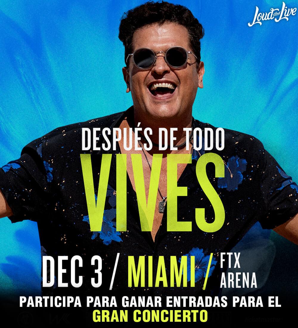 Participa para ganar entradas para el gran concierto de Carlos Vives aquí!