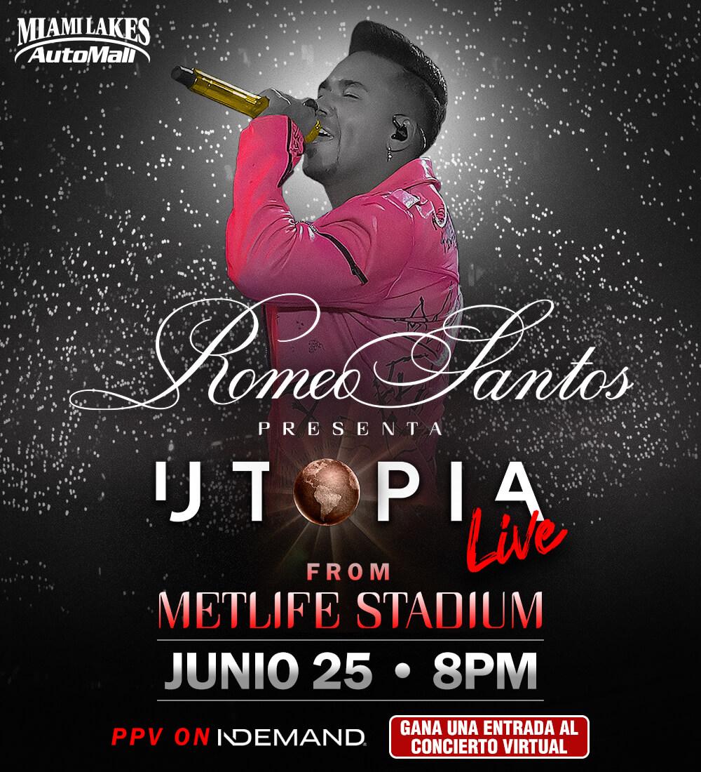 Gana una entrada a Romeo Santos Utopia Live