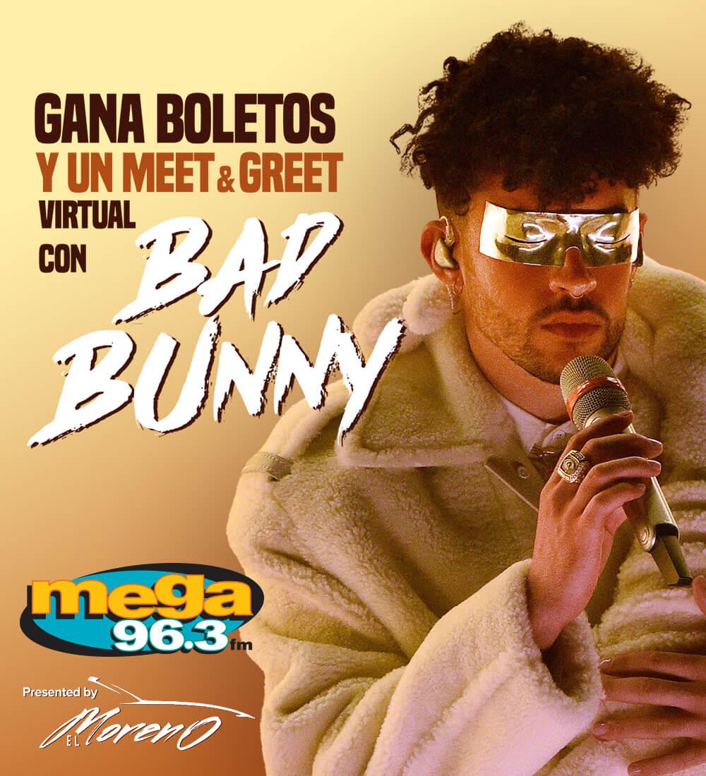 ¡Gana Boletos y un Meet & Greet Virtual con Bad Bunny!