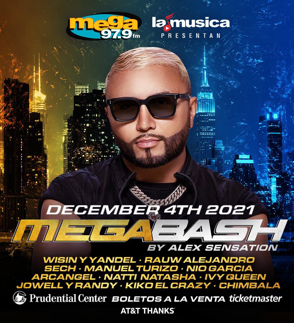 Mega Bash 2021 con Alex Sensation