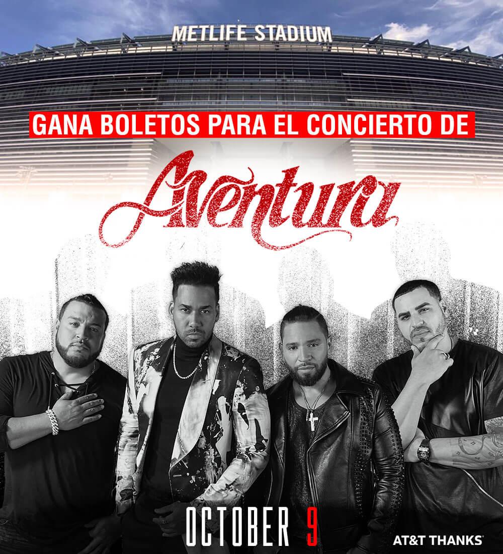 Gana boletos para ver Aventura en el MetLife Stadium