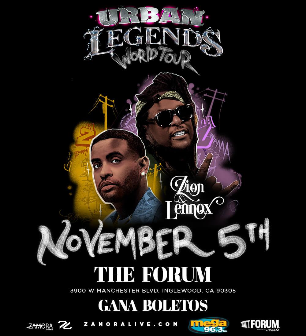 ¡Zion y Lennox en The Forum el 5 de noviembre!