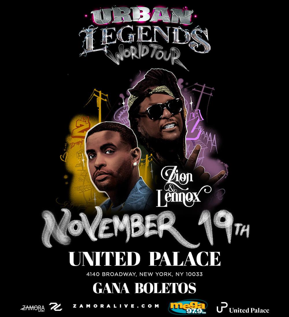 """Zion y Lennox """"Urban Legends"""" World Tour"""