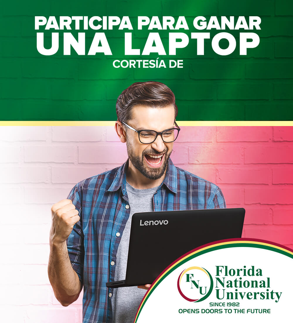 Gánate una laptop cortesía de Florida National University!
